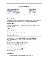 Sample Computer Technology Resume Personal Skills For A Resume Samples Of Resumes Sample Resume