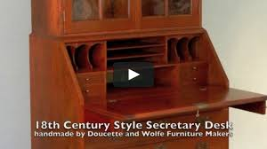 desk and bookcase by doucette and wolfe furniture makers