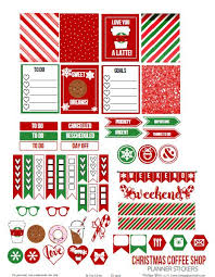 coffee planner stickers printable christmas coffee shop planner stickers free printable planner