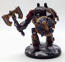 objective secured space wolf dreadnought conversion with frost