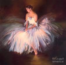 ballerina ballet dancer archival print painting by patti trostle