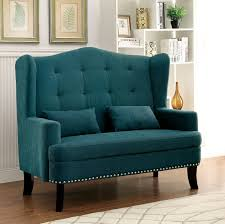 High Wing Back Dining Room Chairs Furniture Of America Setubal Wing Back Upholstered Love Seat
