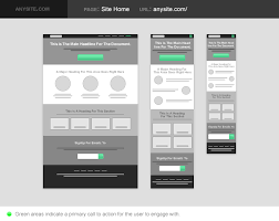 responsive wireframes template google search specification