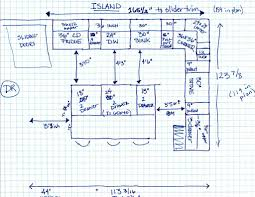 kitchen plans with island dimensions between island and cabinets finalizing layout l