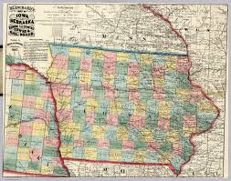 map of iowa towns map of iowa and nebraska david rumsey historical map collection