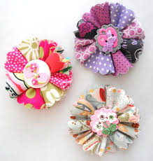 Handmade Flowers Paper - handmade flower hair clip paper n fabric flowers pinterest