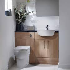 Acorn Bathroom Furniture Aruba Light Walnut Fitted Bathroom Furniture Maximise Space Using
