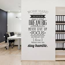 office murals promotion shop for promotional office murals on work hard never give up letter wall sticker tv background wall decorating stickers proverb wallpaper home office mural art