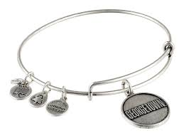 november birthstone alex and ani alex and ani georgetown univeristy logo charm bangle in metallic