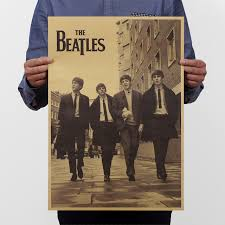 new arrival retro classic roll rock band music movie kraft paper