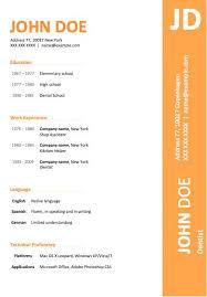 simple resume templates word easy resume example easy resume