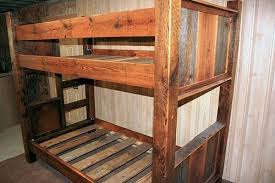 Barn Bunk Bed Barn Wood Bunk Bed Barn Wood Furniture Rustic Barnwood And Log