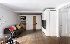 Micro Apartment 390 Square Foot Micro Apartment With Multifunctional Sliding Wall