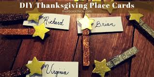 diy thanksgiving place cards that bald