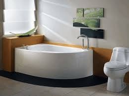 Japanese Bathtubs Small Spaces Small Ensuite Ideas Brown Striped Wooden Vanity Cabinet Rustic