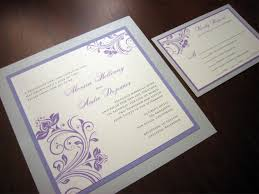 silver wedding invitations purple and silver wedding invitations wedding corners