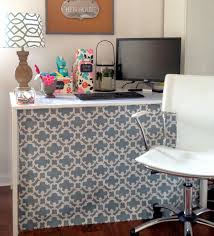 Diy Small Desk Ideas by Loveyourroom Diy Home Office Desk Skirt Hides Clutter