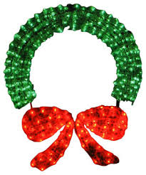 lighted 3 d outdoor wreath decoration 48