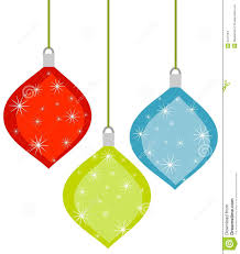 3 retro christmas ornaments stock images image 3473164
