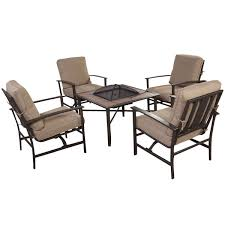 Fire Pit Patio Furniture Sets by Gym Equipment Outdoor Patio Furniture Set Chairs With Firepit 5 Pieces