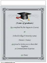 graduation invitations templates free dancemomsinfo