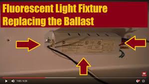 light fixture ballast how to fix a fluorescent light fixture changing the ballast