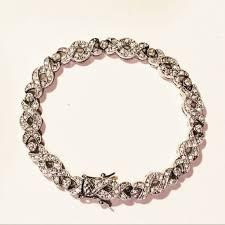 crystal cross bracelet images Vintage jewelry beautiful cross tennis bracelet poshmark jpeg