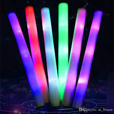 christmas sticks with lights led foam stick light 3 modes multicolor changing flash sticks