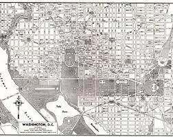 washington dc map puzzle washington dc map etsy