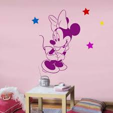 Chambre Enfant Minnie - charmant pochoir chambre enfant et disney minnie mouse pochoir