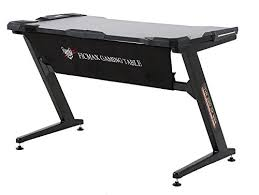 Z Shaped Desk Ficmax Gaming Desk Computer Z Shaped Desk Table With Fighting Led