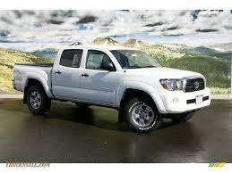 white toyota truck 2011 toyota tacoma v6 trd double cab 4x4 in super white 069235