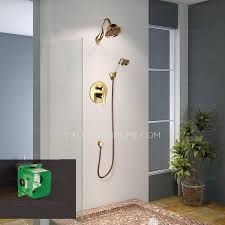 antique polished brass concealed wall mount shower faucet