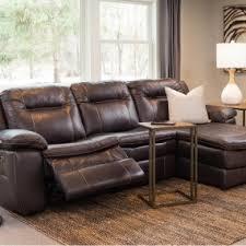 brown leather power sectional schneiderman u0027s furniture