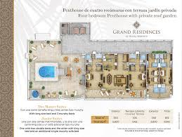 residence floor plan floorplans three bedroom grand residence enthouse private roof garden jpg