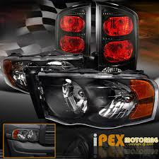 2015 dodge ram 1500 tail light bulb replacement 2002 2005 dodge ram 1500 2500 3500 black headlight black smoke