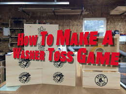 how to make a washer toss game youtube