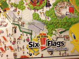 Six Flags Great Adventure Map Auctioning Off Four Vintage Six Flags Wall Maps Theme Park Review
