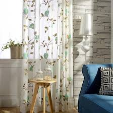 Embroidered Sheer Curtains Beautiful Floral Embroidered Sheer Curtains For Windows
