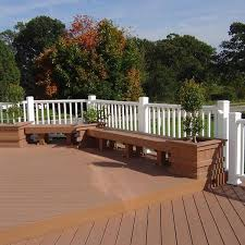 Trex Benches Trex Composite Deck With Trex Composite Rail Archadeck Outdoor
