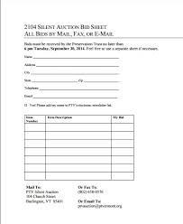 silent auction donation form template cried info
