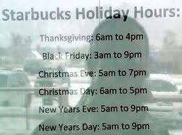 starbucks hours on day decore