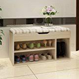 Cushioned Storage Bench Amazon Com Household Essentials Entryway Wicker Cushioned Storage