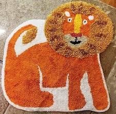 Kids Jungle Rug Lion Bath Rug Decor 28x28 Jungle Safari Infant Nursery Baby Kids