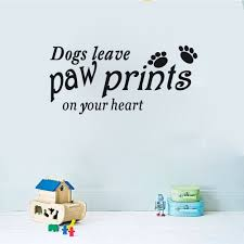 compare prices on vinyl transfer sticker print online shopping dogs leave paw prints on your heart wall sticker decal vinyl wall art transfer china
