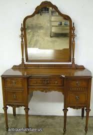 Antique Vanity With Mirror Silver Antique Vanity With Mirror