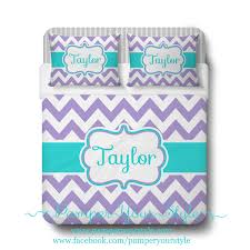 Turquoise Chevron Bedding Aqua And Purple Chevron Bedding Duvet Or Comforter