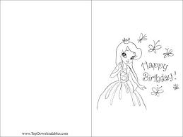 coloring birthday card printable free printable princess birthday decorations invitation
