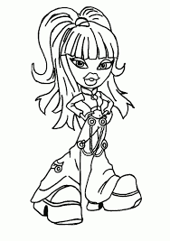 Free Printable Bratz Coloring Pages For Kids For Bratz Coloring Bratz Coloring Pages