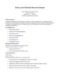 Resume Summary Ideas Resume Summary Examples Entry Level 19 Job 18 Buiness Managment